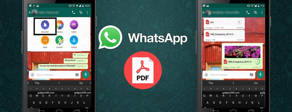 WhatsApp ahora permite adjuntar documentos