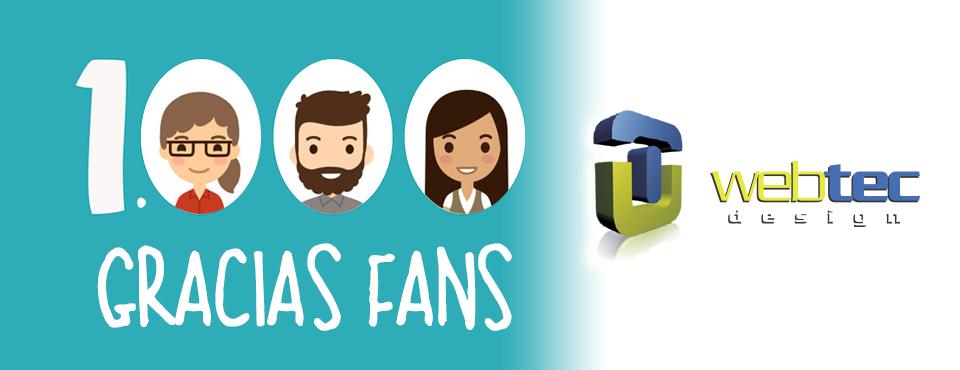 Ya somos 1.000 fans en Facebook. ¡Gracias!